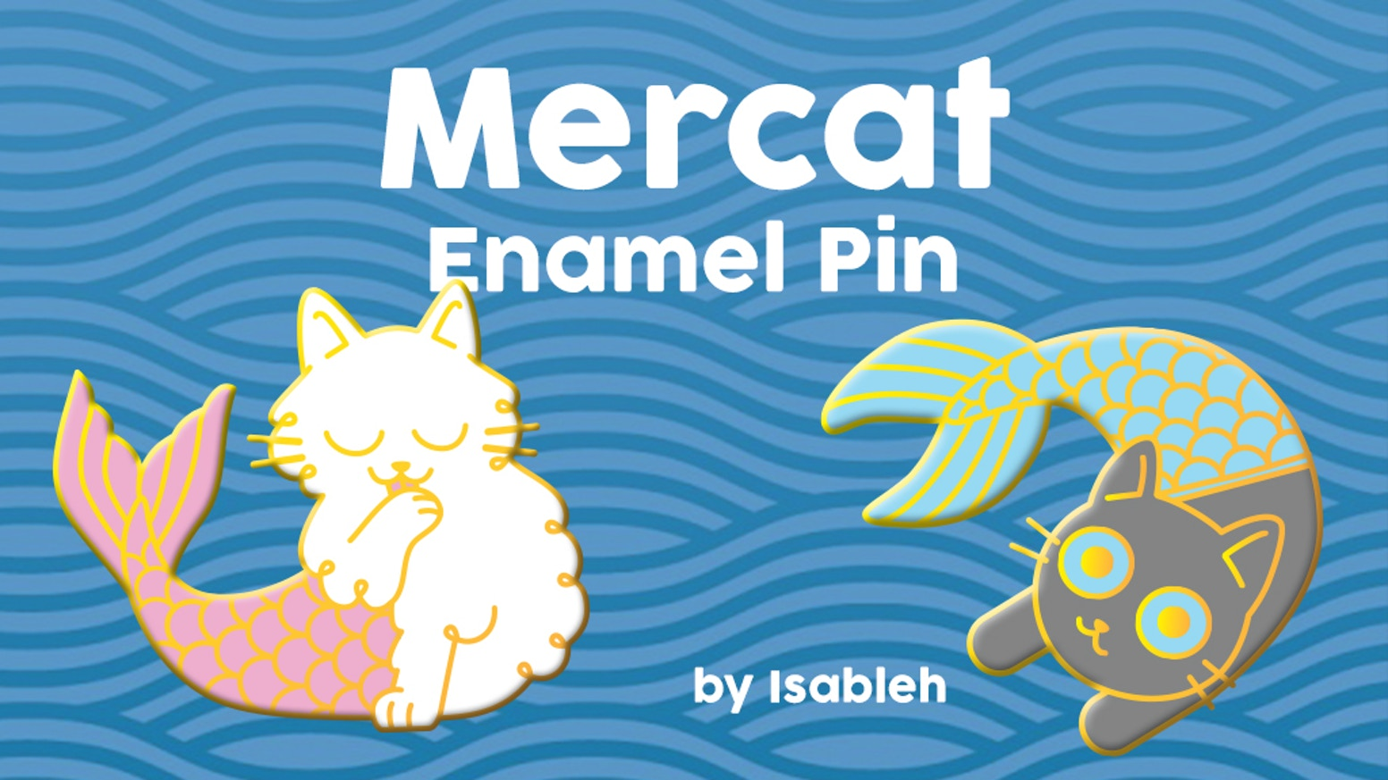 Mermaid Cats enamel pins