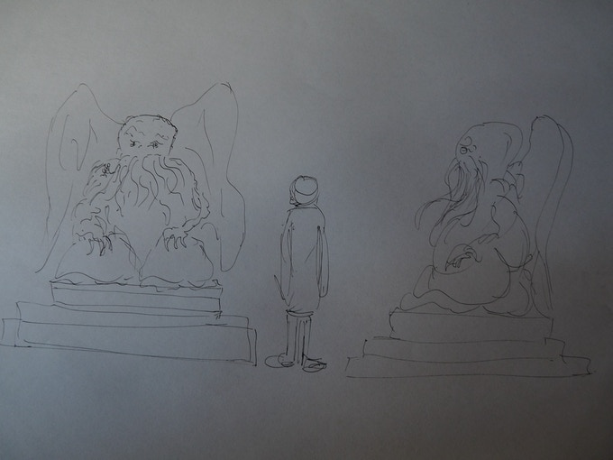 The concept design for the statue
