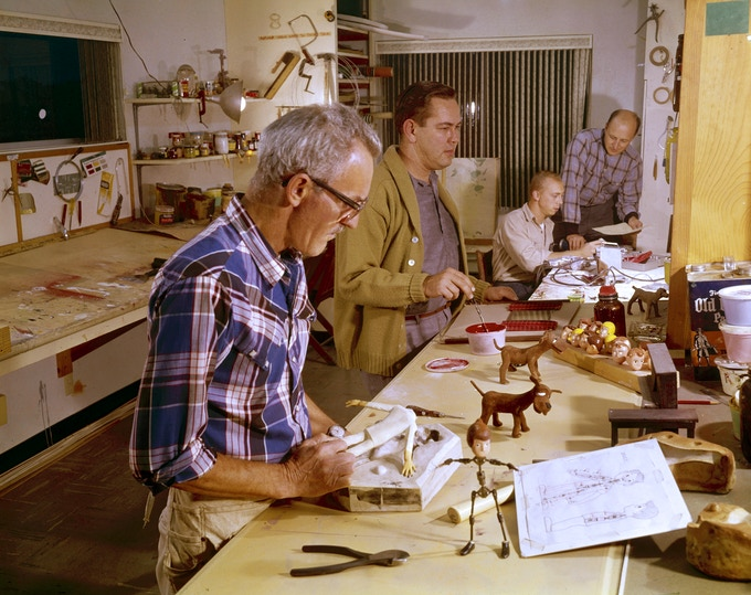 Behind the Scenes with Art Clokey and his Animation Team in the 1960s