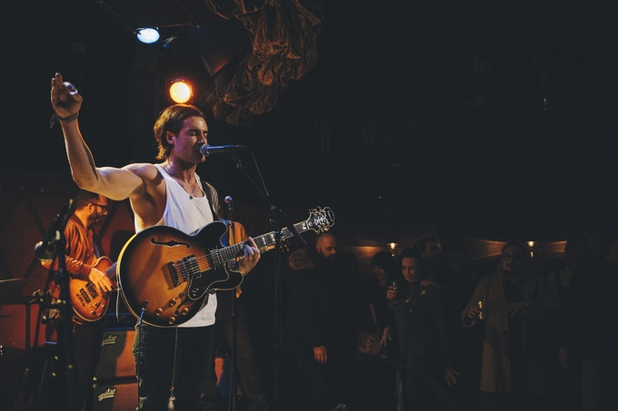 Wolfe performing LIVE @ Rockwood Music Hall, NY - Photography by Matt Young