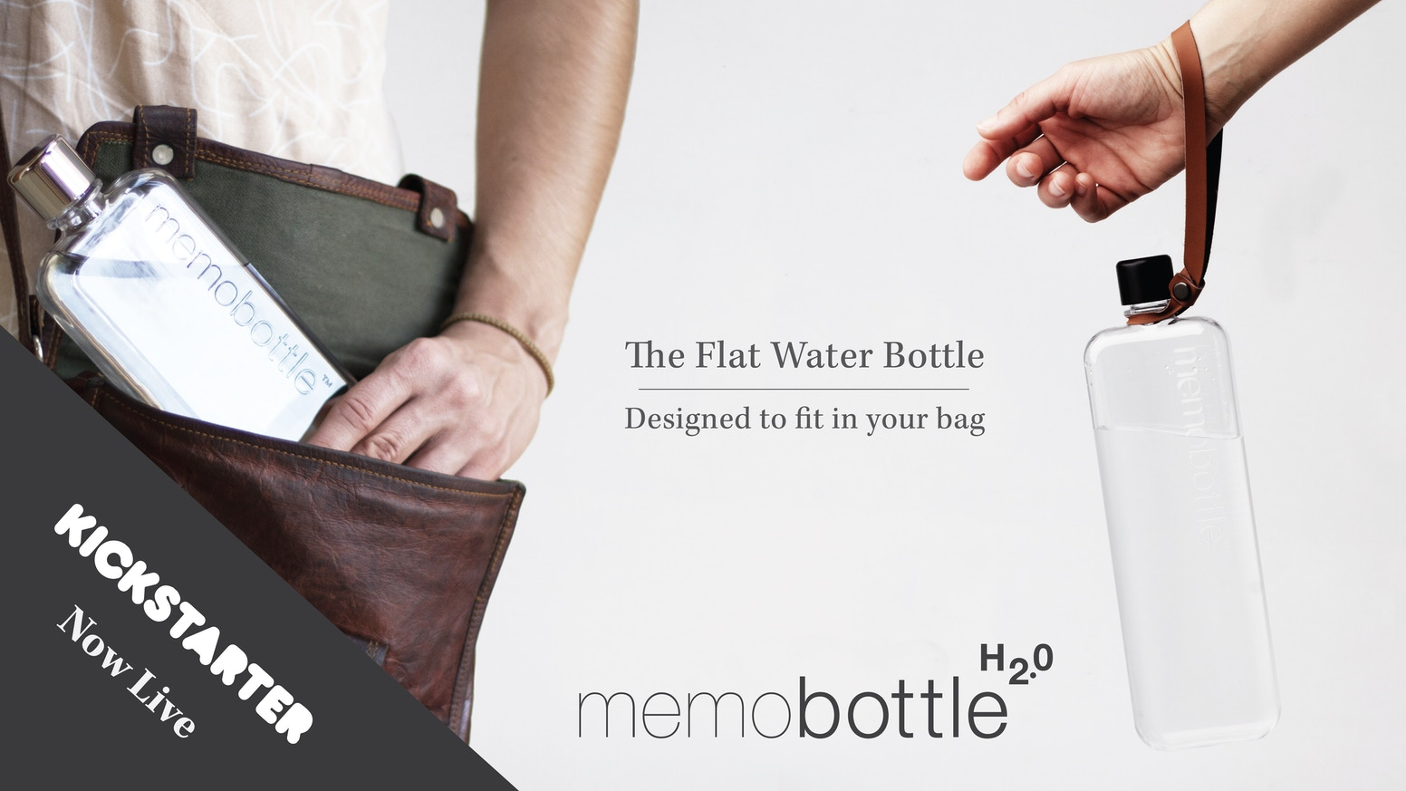 The flat water bottles that fit in your bag. Introducing two new memobottles - The Slim, The A7 and a range of premium accessories.