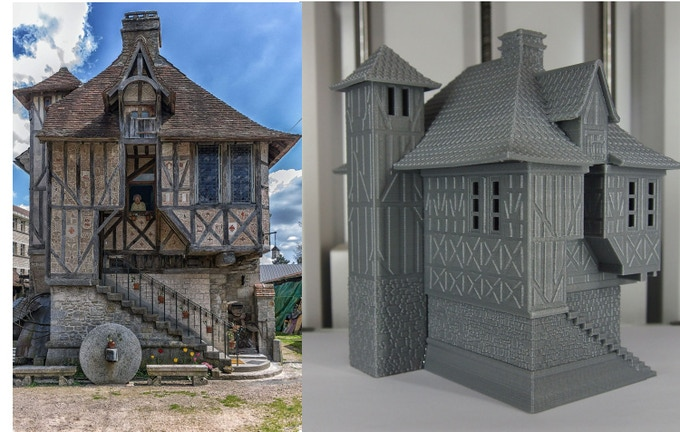 Normandy-style house : inspiration photo and 1/100 printed model