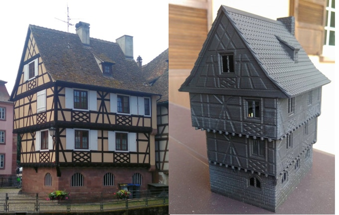 Printable Tabletop Terrain Alsace Timbered Buildings