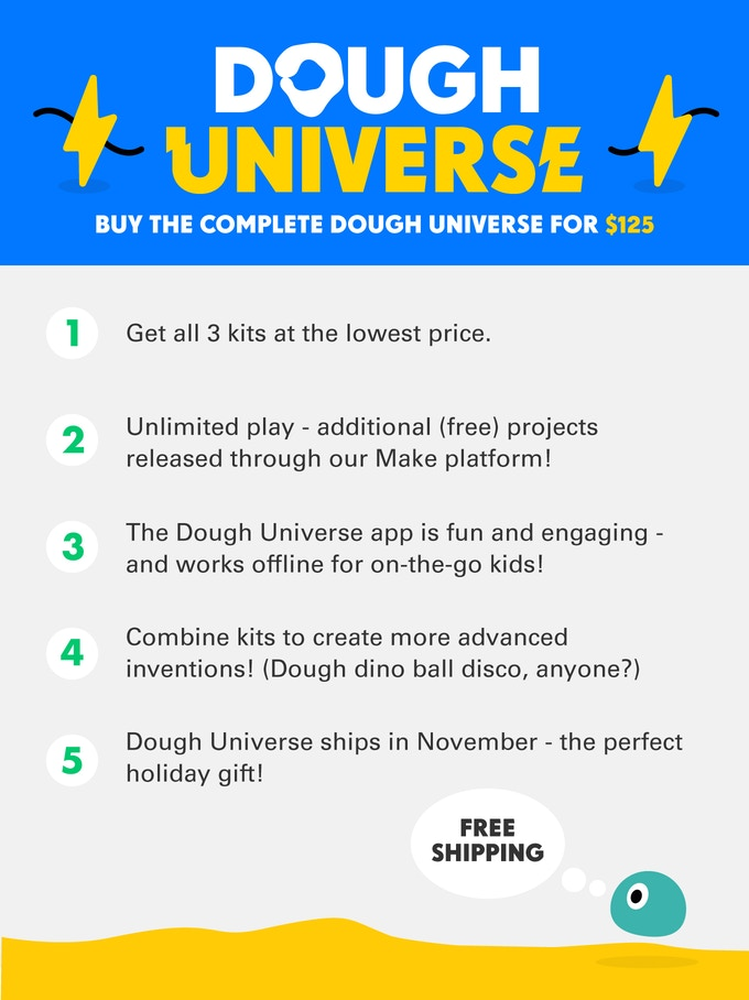 Dough Universe: Teach kids about electronics with play dough