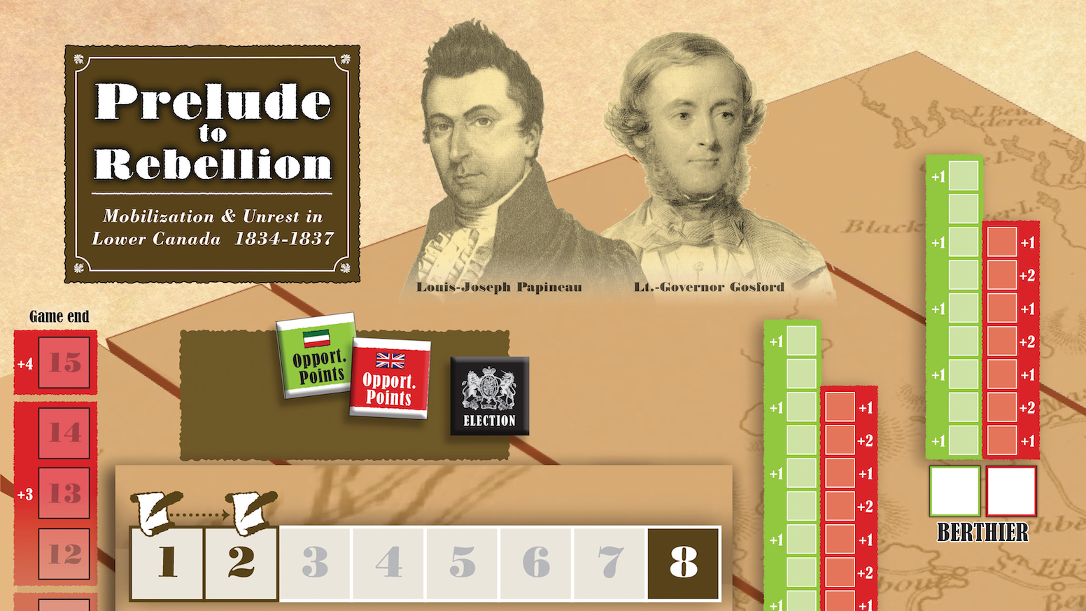 Card-driven game on the events leading to the uprisings of Lower Canada in 1834-1837
