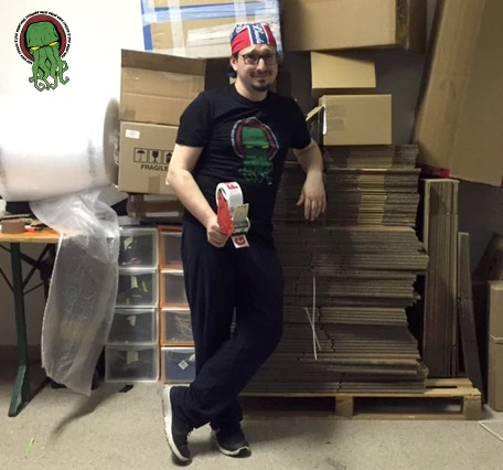 Riccardo Fusi, the man in charge of packing and shipping