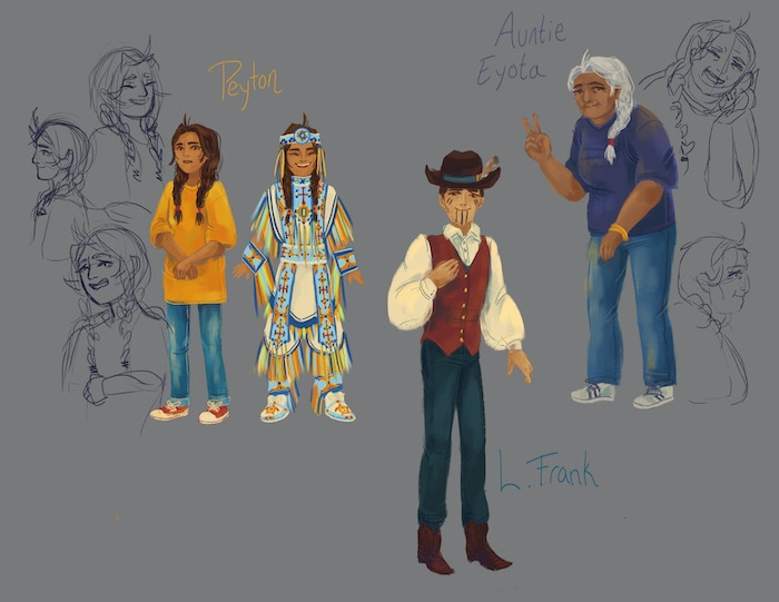 character sketches from 47,000 Beads by Angel & Koja Adeyoha, illustrated by Holly McGillis