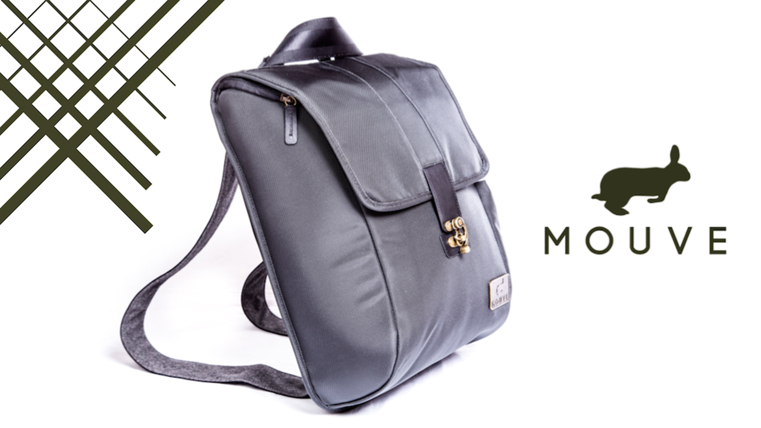 Fantastic Stylish One-Step Convertible Backpack / Messenger Bag by Mouve  KL99