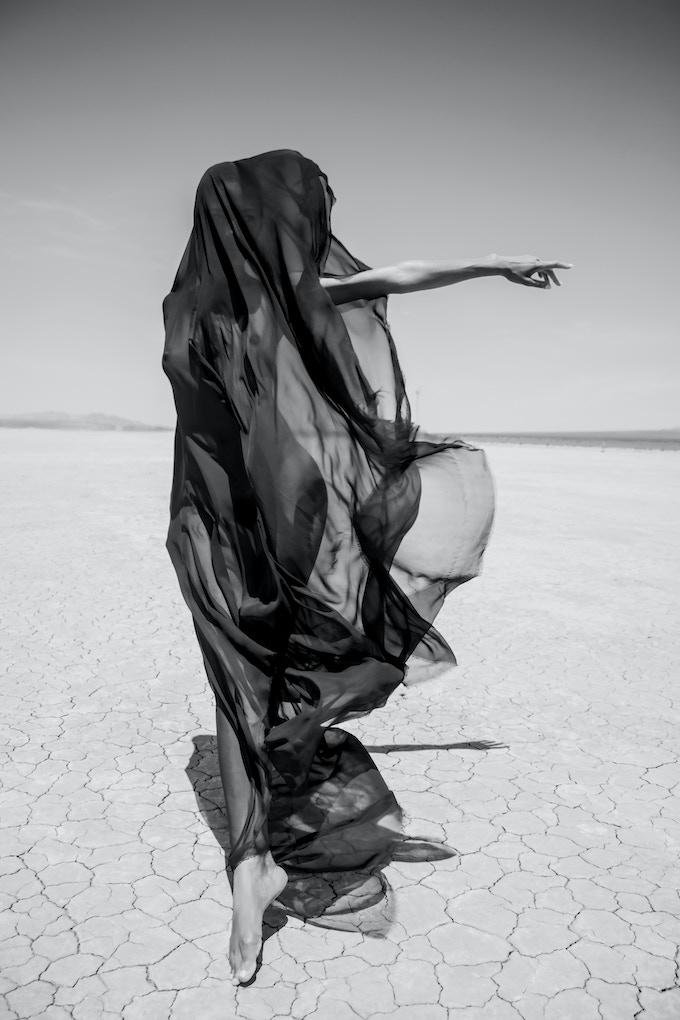 Melinda at Dry Lake Bed