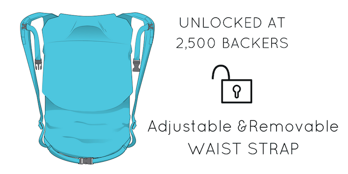 Adjustable and Removable, you can have the option to leave it on or tuck it away.