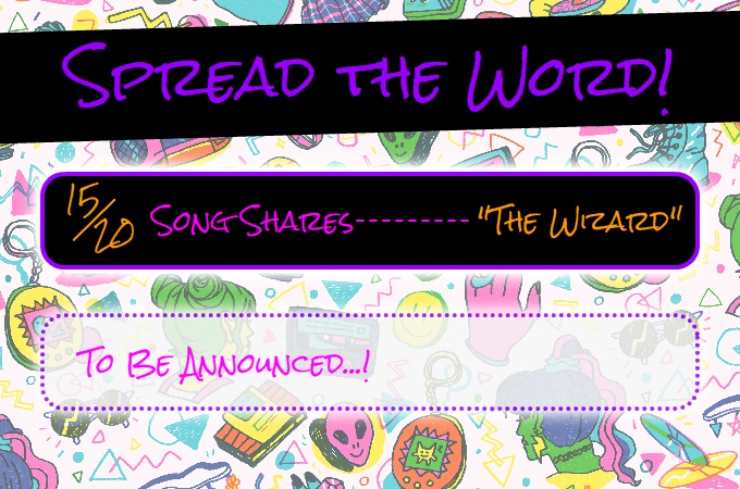 After 20 song shares we'll unlock a special new character archetype!