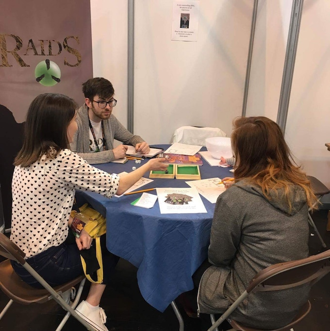 A game of Raids at UK Games Expo this year