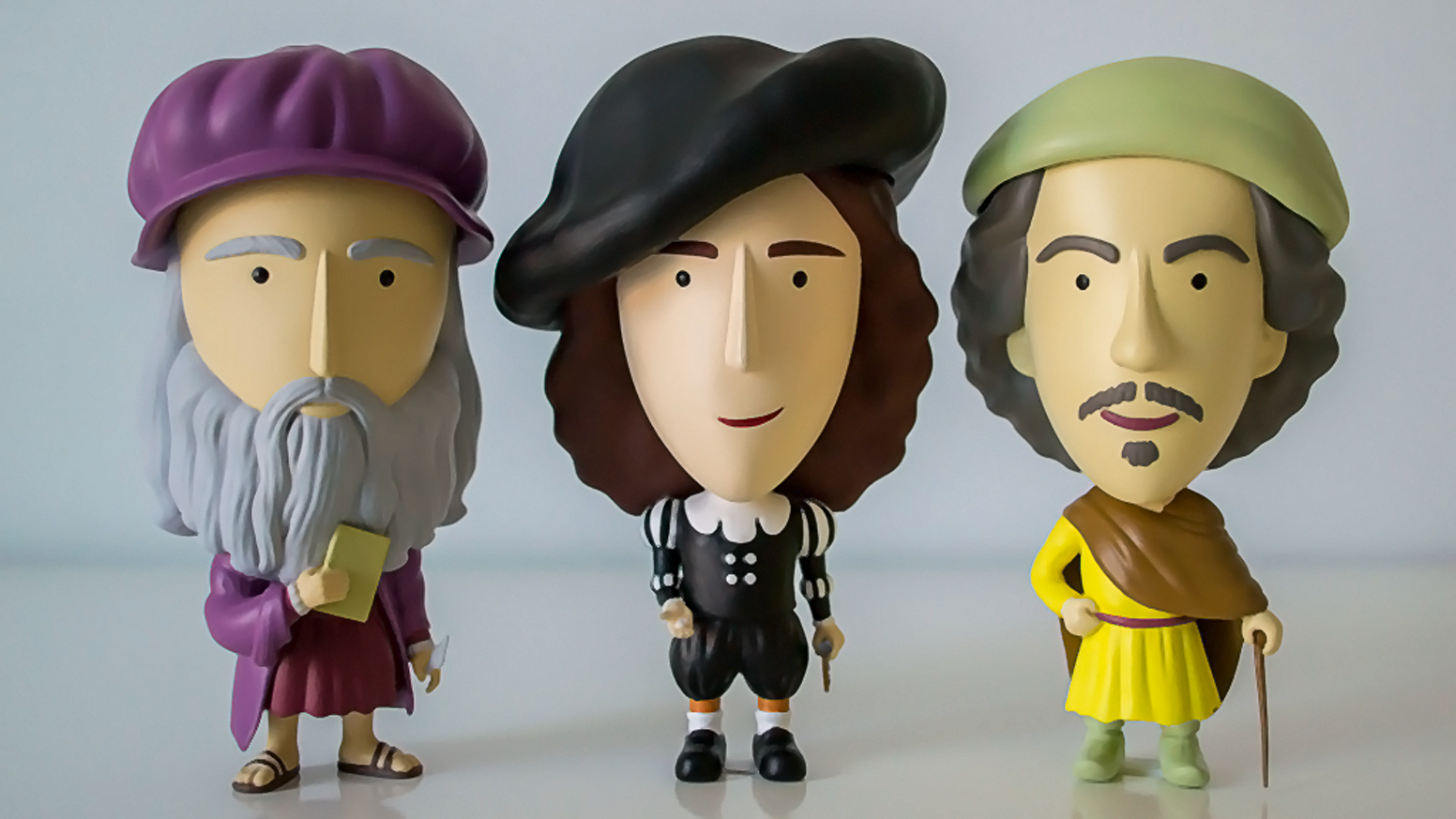 We made it! We are turning three Old Masters into charming action figures.
