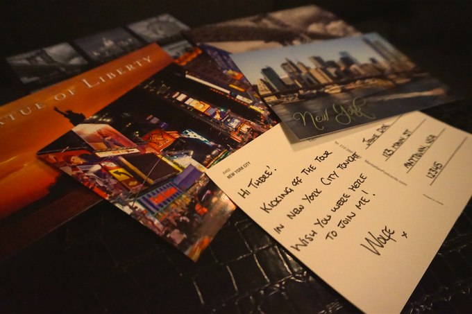"""""""Wish You Were Here"""" - Hand-written notes from the road!"""