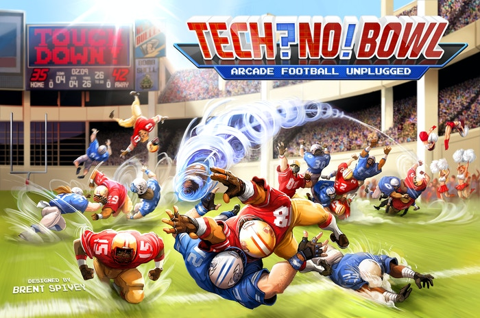 Everything you love about video game football classics like Tecmo Bowl, NFL Blitz, and Madden translated to the tabletop. BOOM!