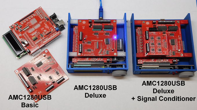 The AMC1280USB motion controller in three options