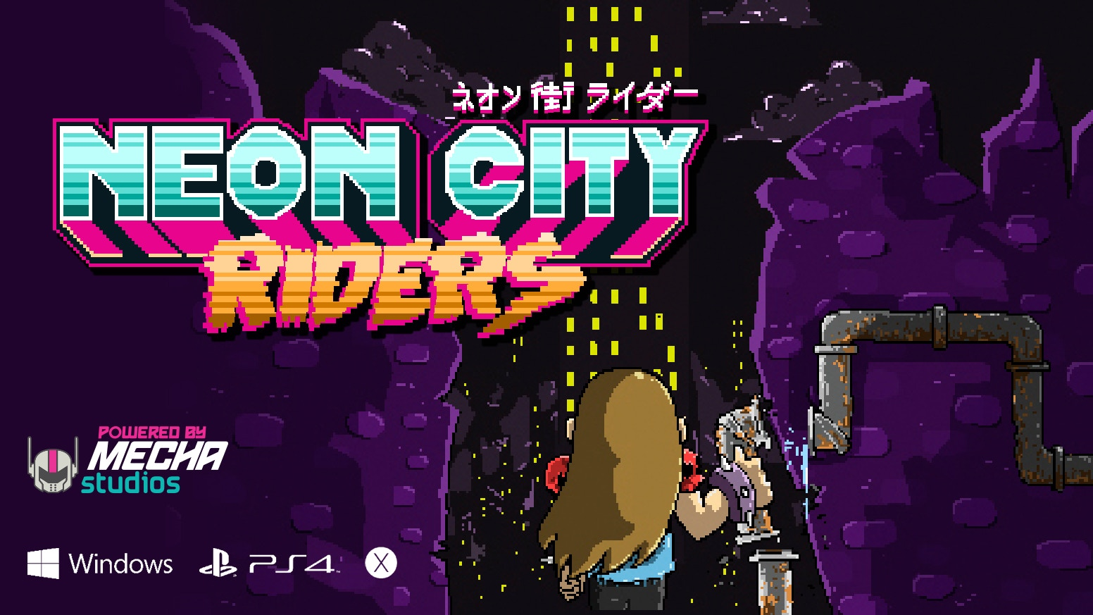 Explore a decaying futuristic city in search of items, superpowers and companions to free all the turfs and unite their people again!