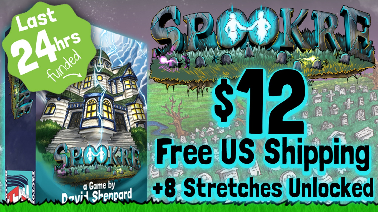 Spookre is a quick playing Trick-Taking game with a ghostly twist.