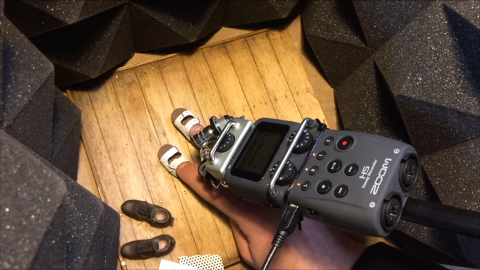 Recording footstep sounds