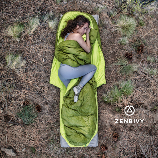 Designed to let you sleep like your bed at home, the Zenbivy Bed is the world's first freestyle sleeping bag.