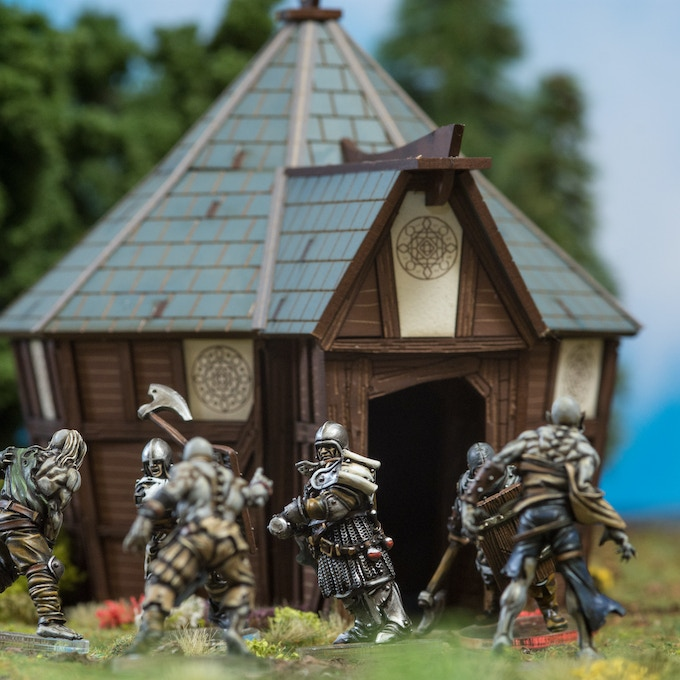 Miniatures painted by John Johansson of Crow Industries, Eightfold Path Shrine Designed by Andrew Annabel