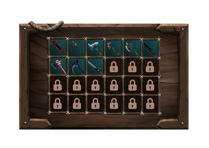 Combat weapons available in the game