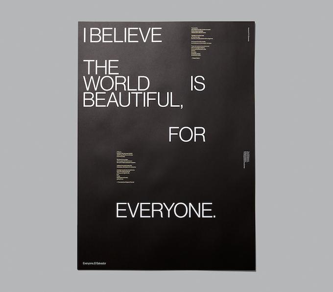 Everyone, El Salvador, special edition poster