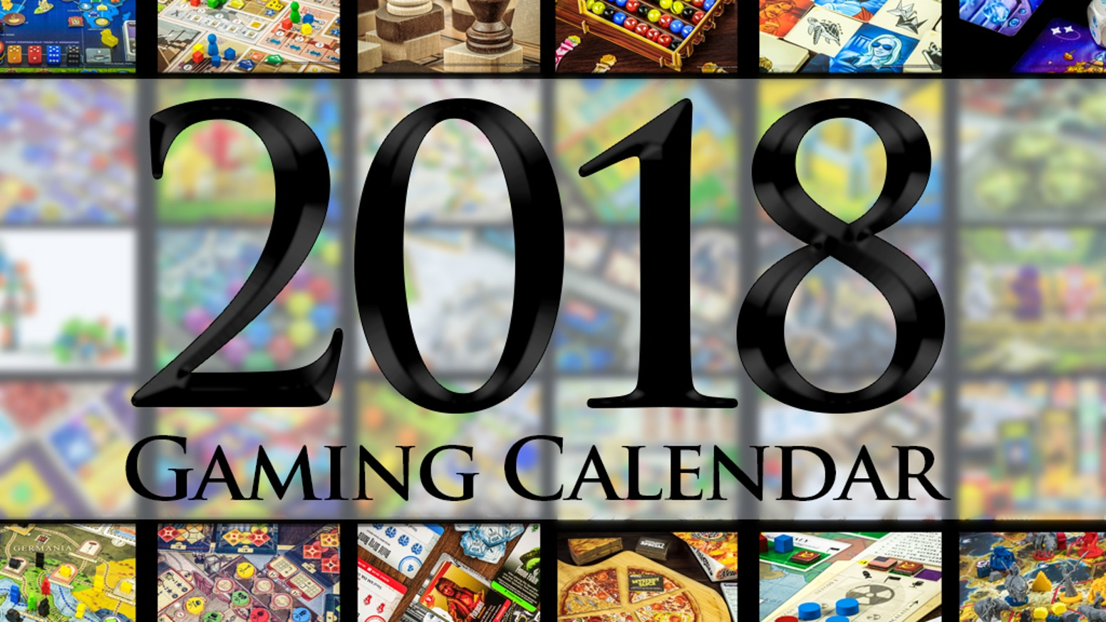 A 2018 Calendar featuring some of the coolest and prettiest board games of all time.