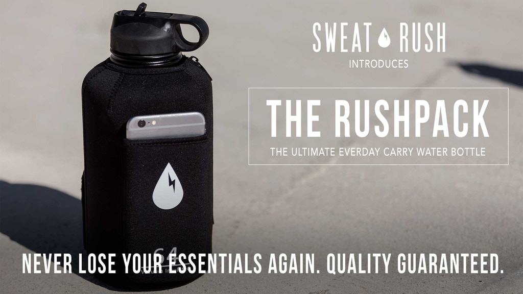 The Rushpack: The First Every Day Carry Water Bottle project video thumbnail