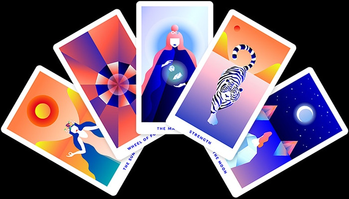 Tarot Cards for the Modern Mystic ˞An intuition tool for spiritual guidance, designed with intentional good vibes & a love of color✨