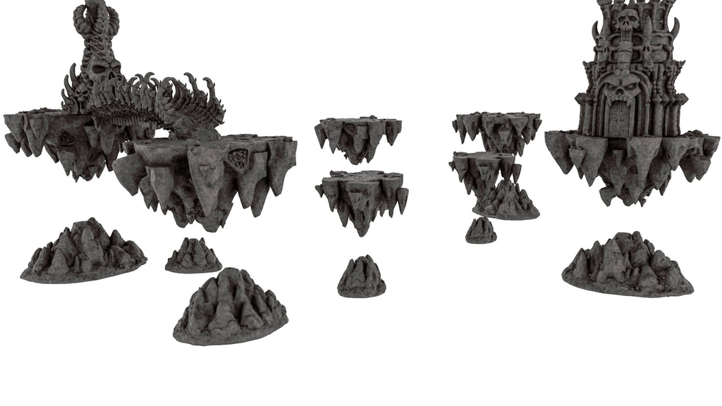 The Shattered Shards 3D Printable Fantasy War Games Scenery project video thumbnail