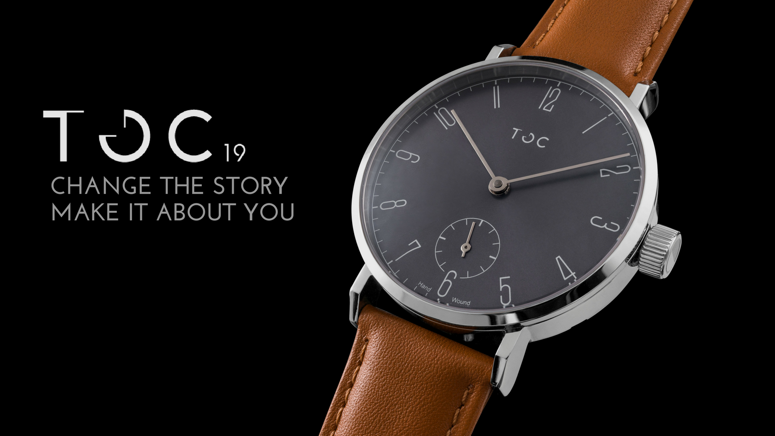 Toc19. A hand wound watch that makes a personal statement
