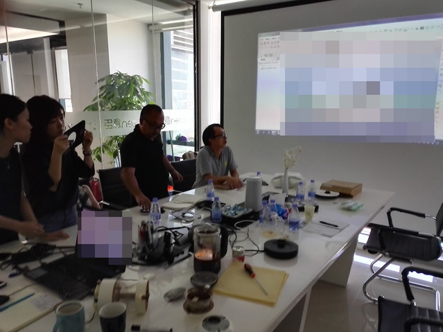 Reviewing newest design from Innozen along with our manufacturing partners in Shenzhen.