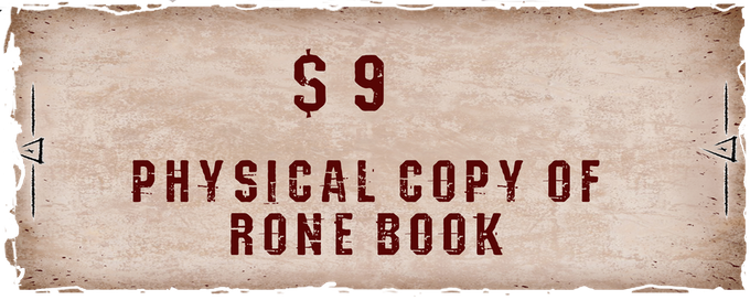 Physical version of the bok with story from RONE world (about 40 pages). In addition, your name will be put at the end of this story.