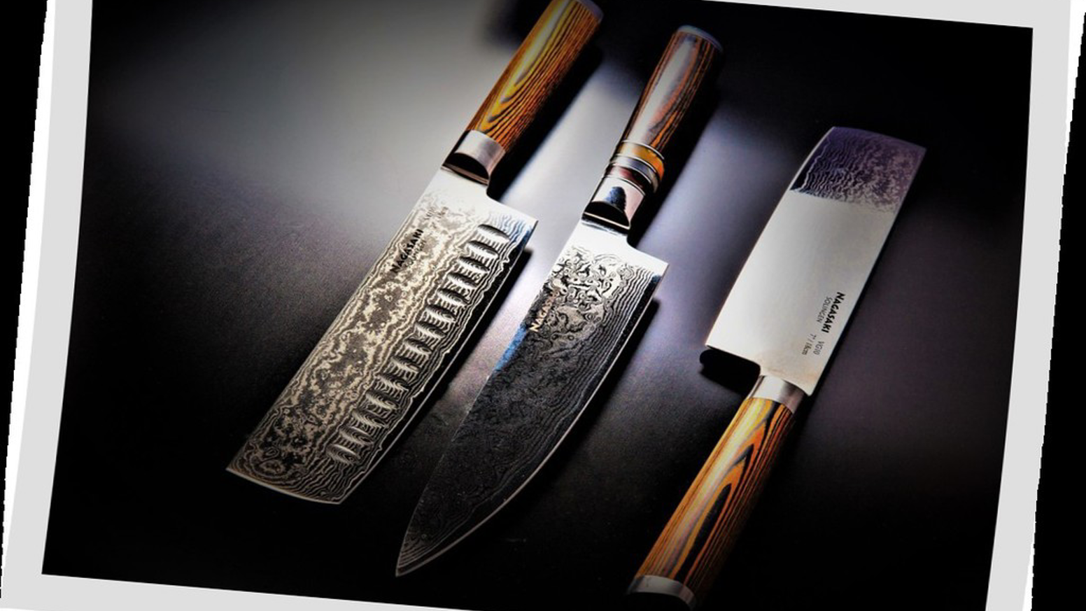 Nagasaki: A unique design of Japanese & German craftsmanship with VG-10 Steel core with 67 layers of damascus.