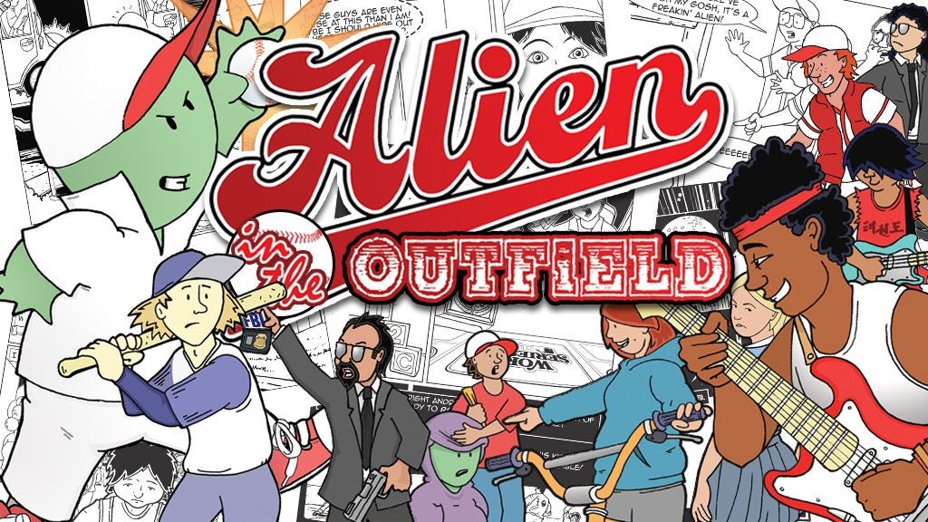 Alien in the Outfield - an 80s retro sci-fi graphic novel! project video thumbnail
