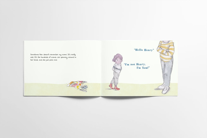 The world's first personalised children's book about dementia. A book about dementia in your family – featuring your loved ones.