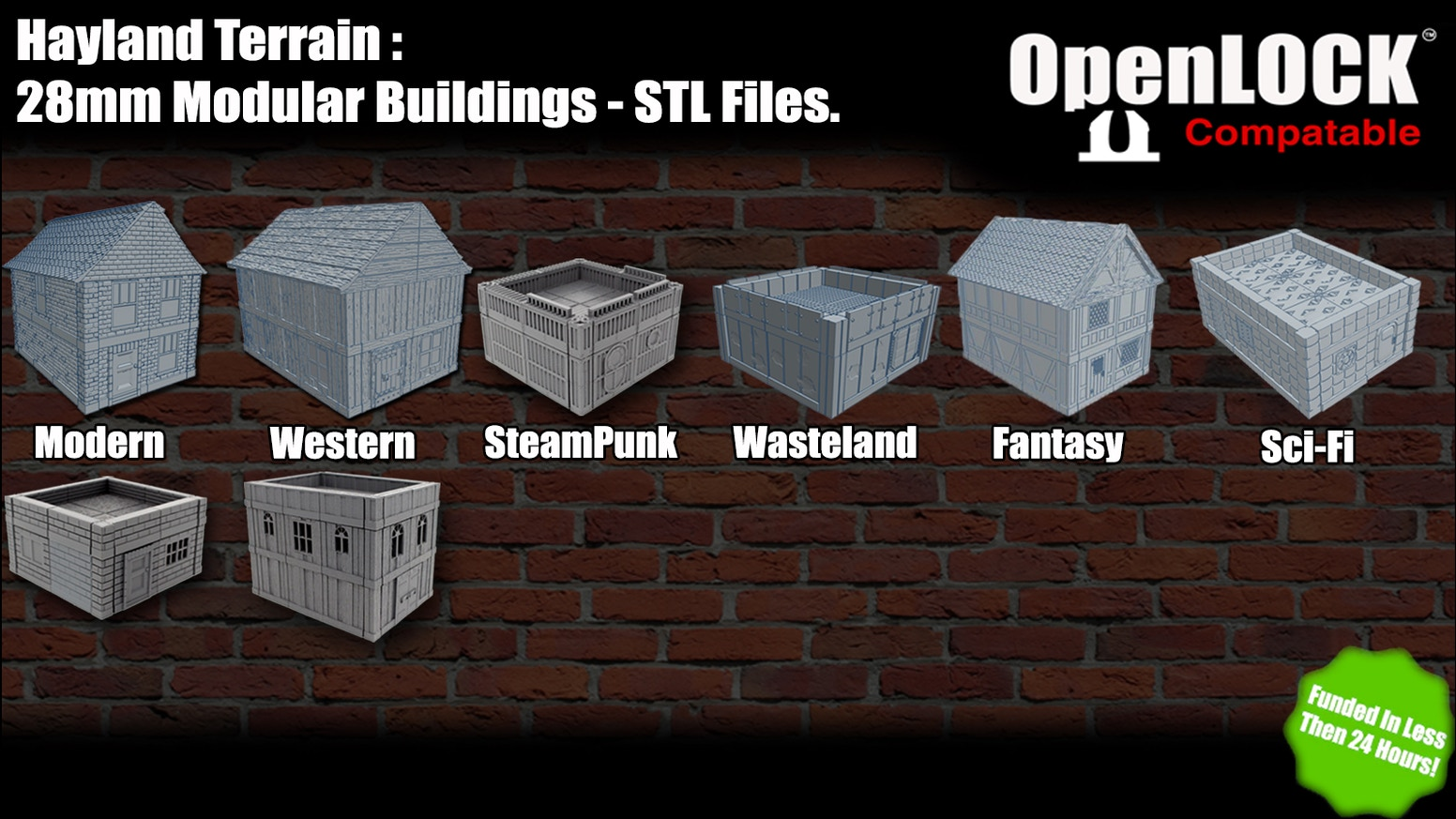 Hayland: 28mm Modular Buildings - Compatible with OpenLOCK system