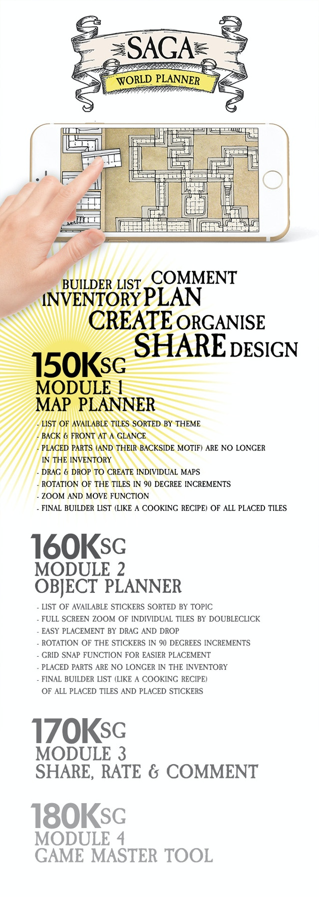 Saga world builder modular tiles for tabletop and dd games by saga stretch goals for our new game planning app gumiabroncs Choice Image