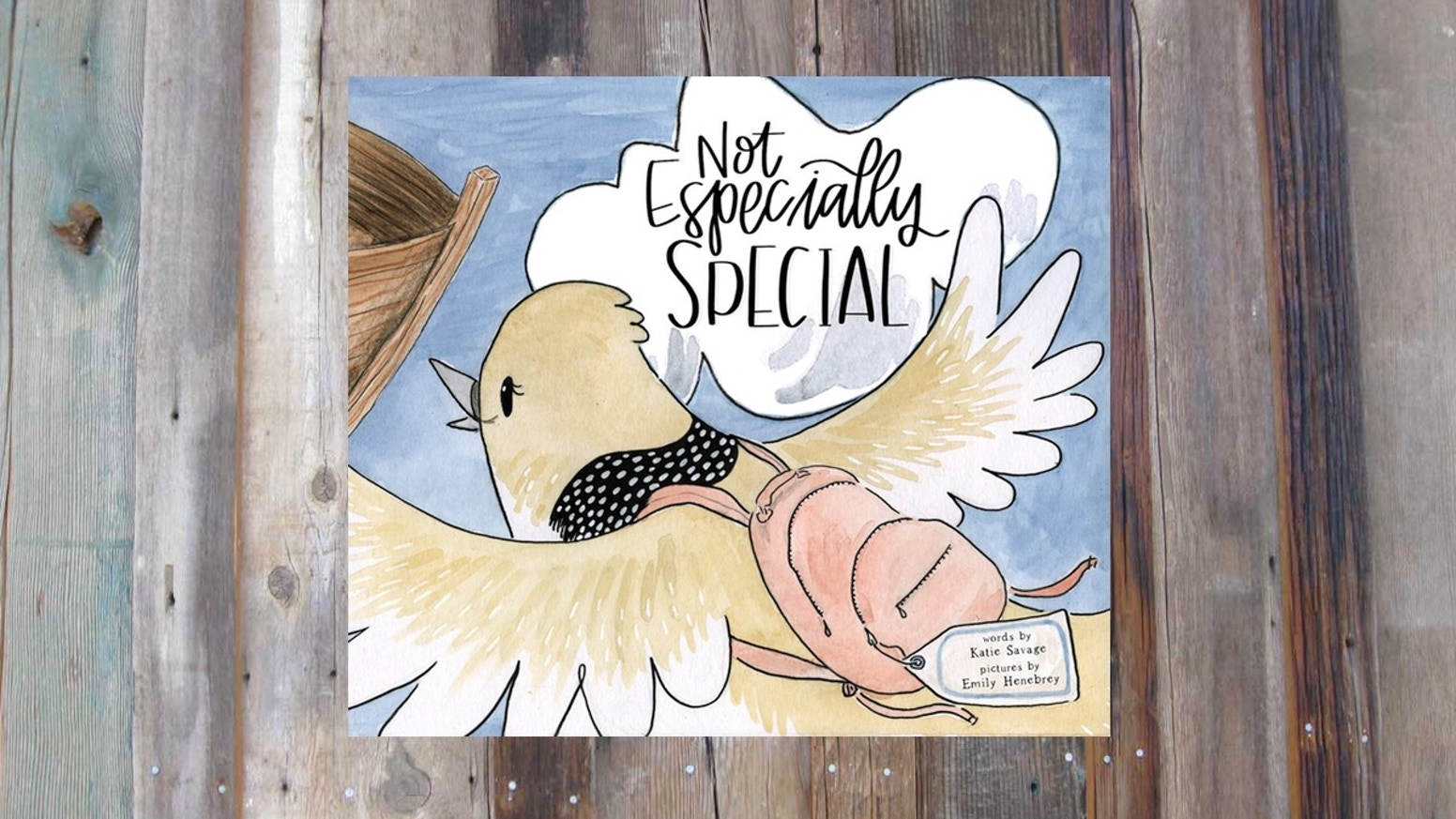 Not Especially Special is a children's picture book about the no-bird-too-ordinary love of God. And a bird with a backpack.
