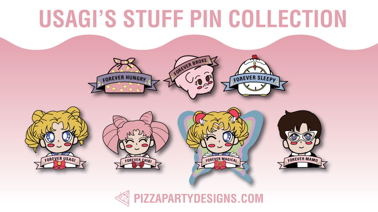 22e99730709 Limited Edition: Usagi's Stuff Pin Collection by Pizza Party Designs ...