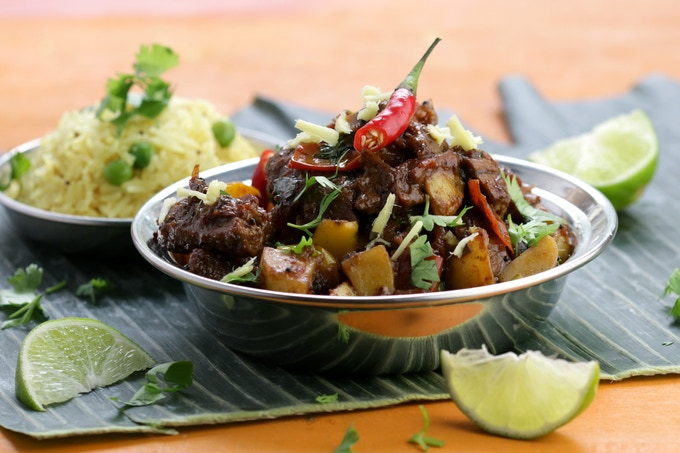 Seitan Vindaloo - Goan tangy curry