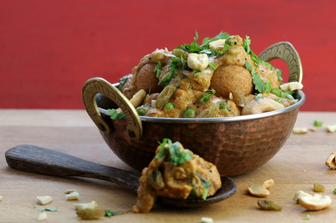 Malai Kofta - potato dumplings in tomato cashew curry