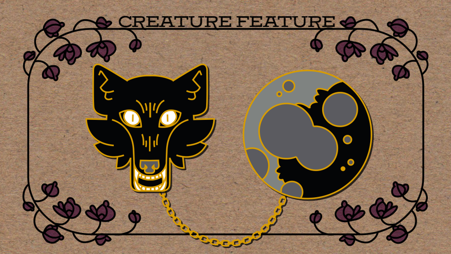 A pair of enamel pins to reflect your wild side!