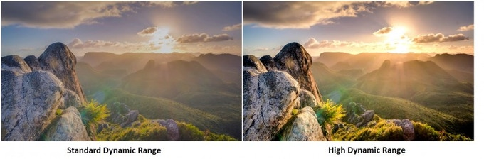 Standard Dynamic Range vs 10-bit High Dynamic Range