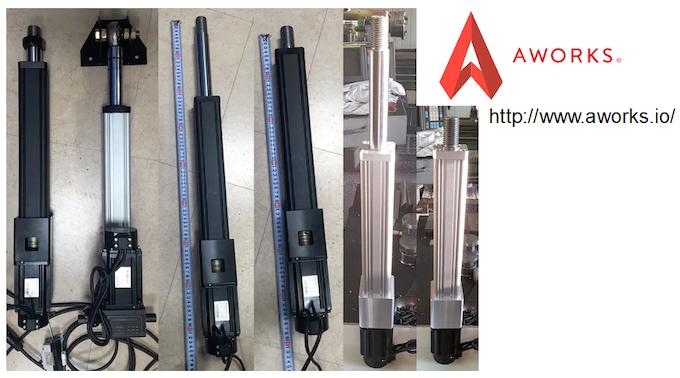 Aworks - Custom linear servomotor actuators for AMC1280USB