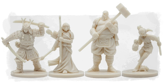 The prototypes of our four miniature heroes