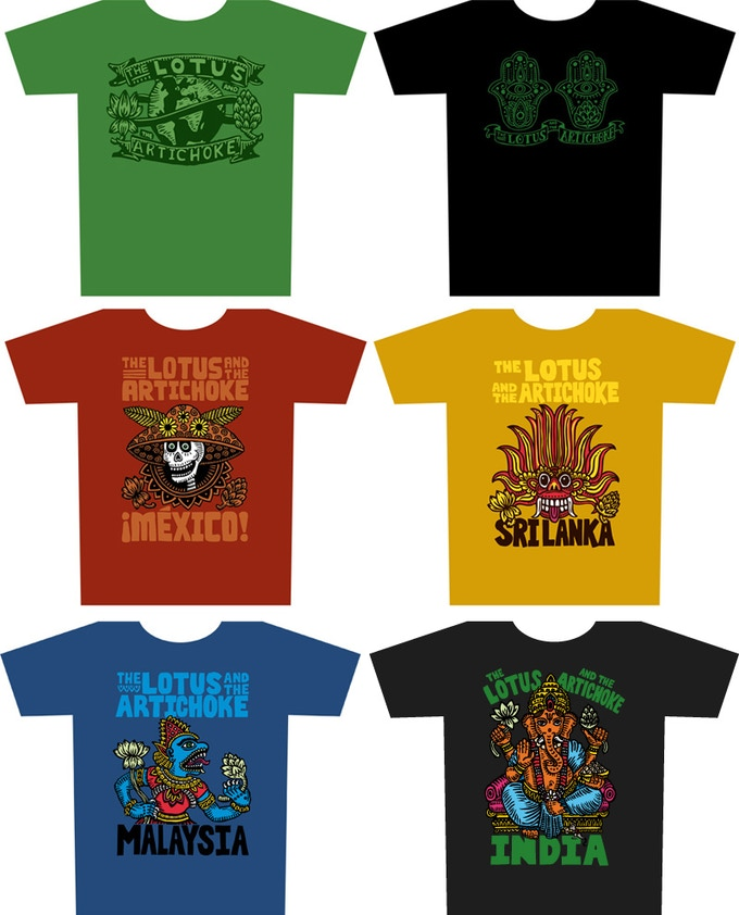 Designs available for all T-Shirt rewards