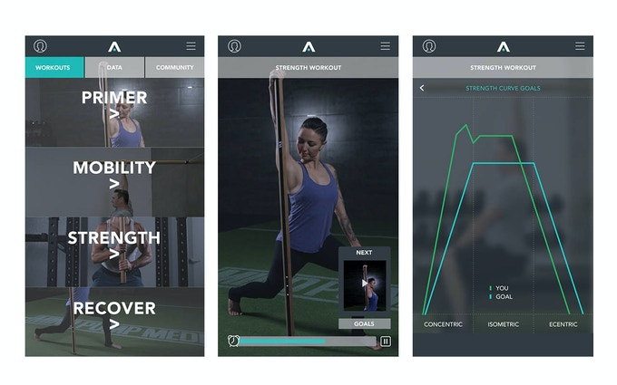 AxonFit™ app screens