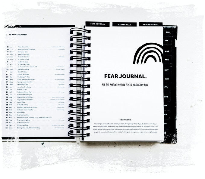 The imperfect life planner by kerry lyons kickstarter move those inner doubts out of your way once and for all your fear journal will show you how to wipe out every fear that might be holding you back fandeluxe Image collections